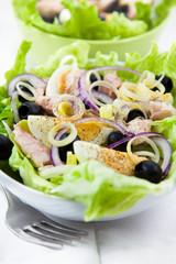 Egg and fish salad