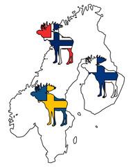 Skandinavische Elche