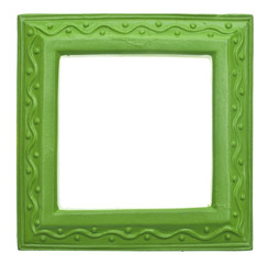 Green Square Modern Vibrant Colored Empty Frame