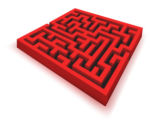 VECTOR red maze