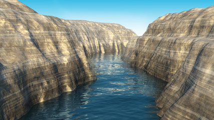 3d rendered canyon