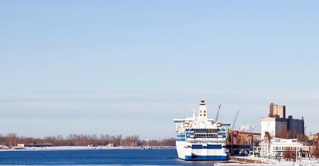 Ferry boat in port
