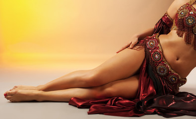 Beauty arabian dancer legs