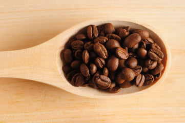 Roasted coffee.