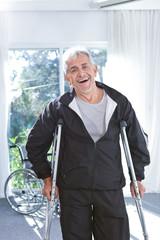 Portrait of a cheerful senior man