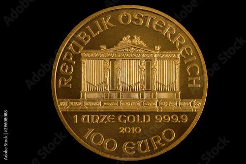 österreich Goldmünze Philharmoniker Anlagemünze Stockfotos Und