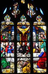 France, vitraux de l'église Saint Martin de Triel