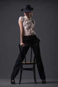 woman cabaret dancer