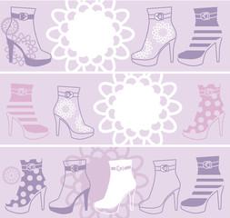 fashionable womanish boots