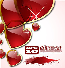 the vector abstract hearts background eps 10