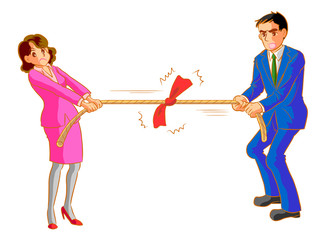 男と女の綱引き
