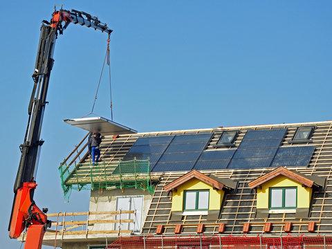solar collector montage
