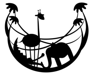 Vector illustration. Zoo.