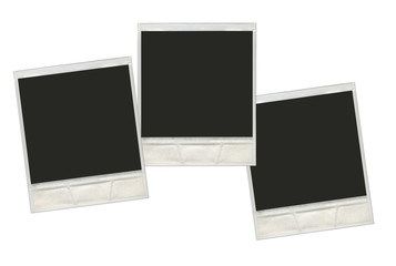 set vintage instant polaroid photo frames in white background re