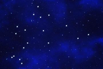 "Starfield background of zodiacal symbol ""Aquarius"""