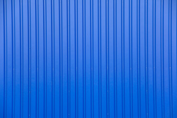 Blue metal facade