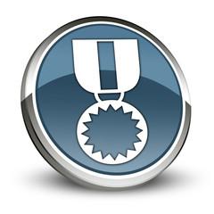 "Dark Blue 3D Style Icon ""Award Medal"""
