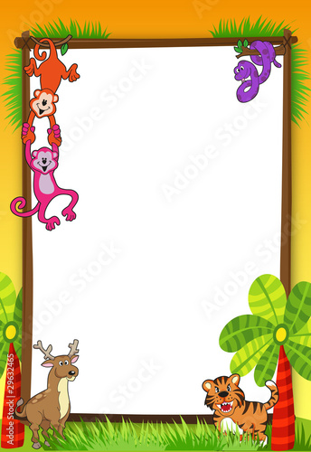 jungle invitation stock image and royalty free vector files on
