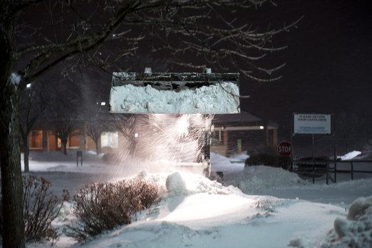 bobcat removing snow