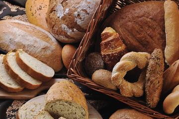 Deurstickers Bakkerij fresh bread food group