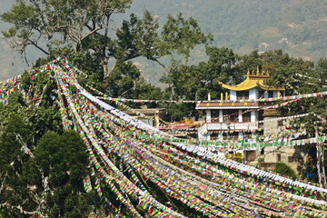 Prayer flags in Swayambhunath