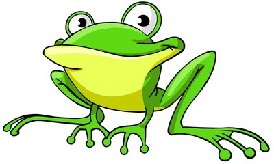 Cartoon frog.