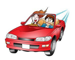 Printed roller blinds Cars ドライブ(カップル01)