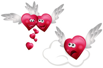 Three Flying Hearts