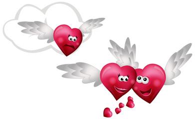 Three Flying Hearts