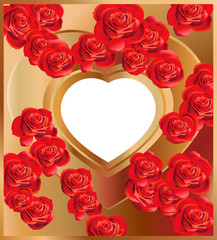 Background with Heart and Roses
