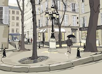 Photo sur Aluminium Art Studio Furstemberg square in paris