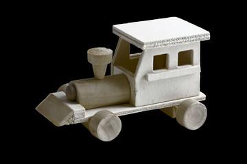 Toy Train on Black