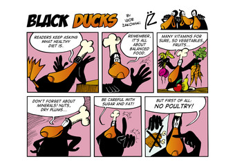 Door stickers Comics Black Ducks Comic Strip episode 66