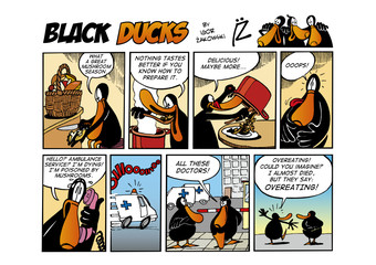 Foto op Aluminium Comics Black Ducks Comic Strip episode 65