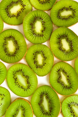 macro photo section of kivi fruit