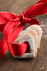 Ribbon with shortbread hearts