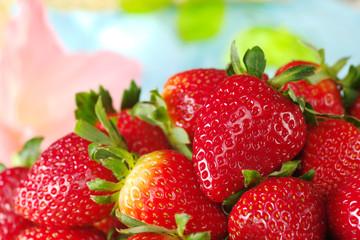 Close-up of fresh strawberries