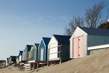 Beach huts.