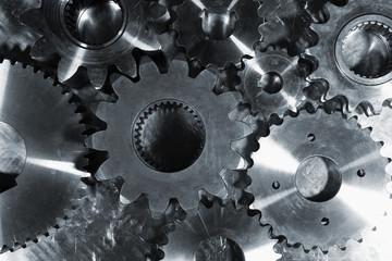 steel gears and cogwheels
