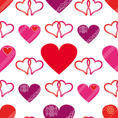 Seamless of Hearts