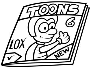 Magazine - Black and White Cartoon illustration