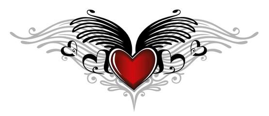 Valentinstag, Valentin, Herz, Flügel, Liebe, love