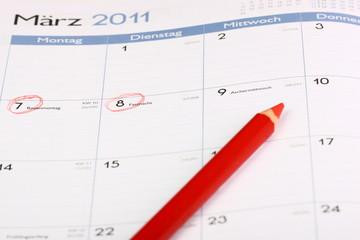Kalendereintrag Erinnerung Rosenmontag Karneval Jekken