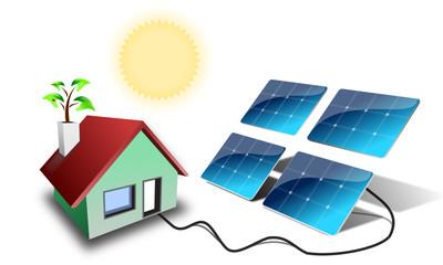 Solarmodul Haus