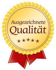 button medaille siegel ausgezeichnete qualität