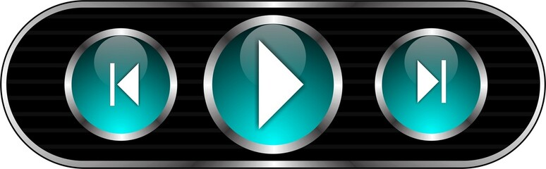 Botones para reproductor de música