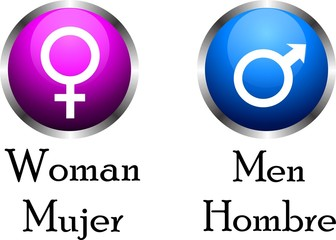 iconos generos masculino femenino