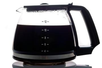 Kaffeekanne gefüllt