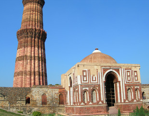 Printed kitchen splashbacks Delhi Qutb Minar monument in New Delhi, India