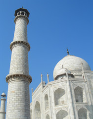 Perspective Details of the Taj Mahal mausoleum in Agra India